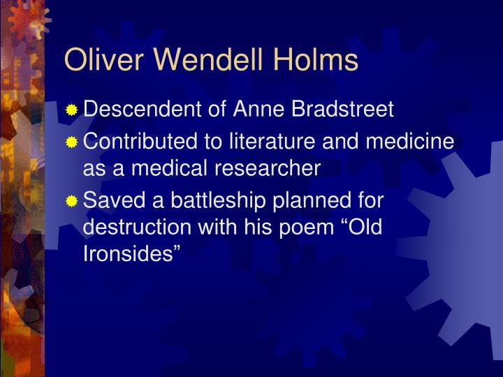 Oliver Wendell Holms