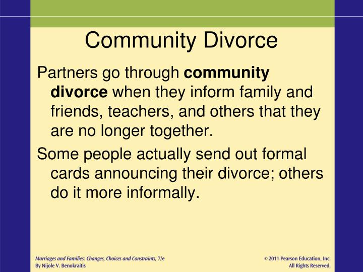 Community Divorce