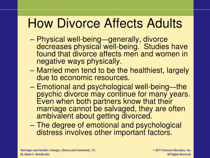How Divorce Affects Adults