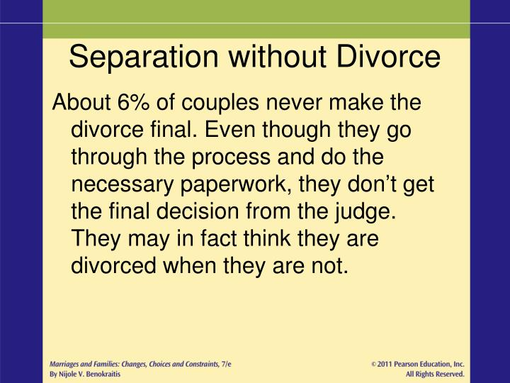 Separation without Divorce