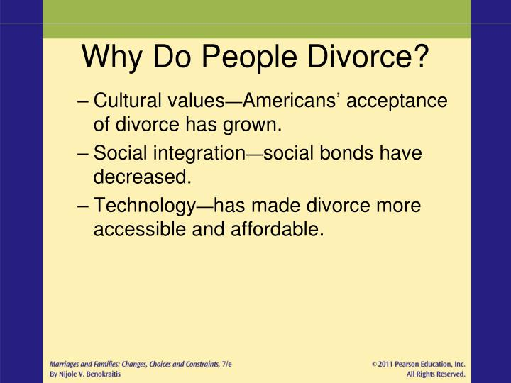 Why Do People Divorce?