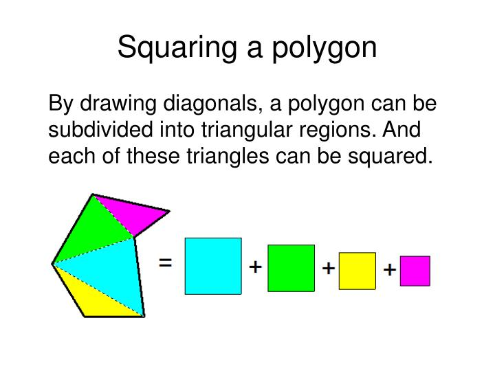 Squaring a polygon