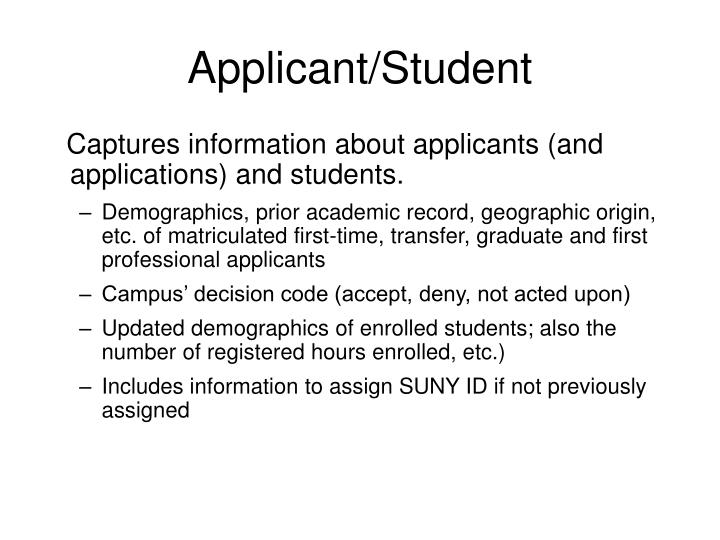 Applicant/Student