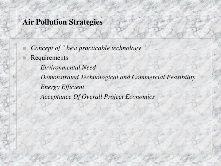 Air Pollution Strategies