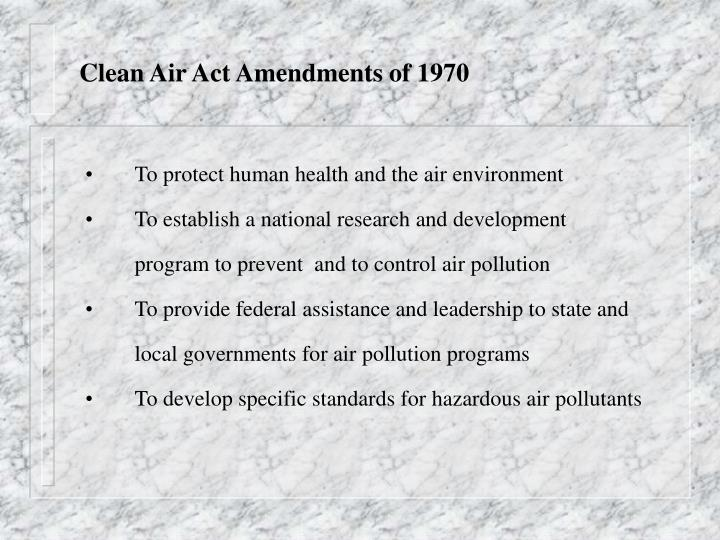 Clean Air Act Amendments of 1970