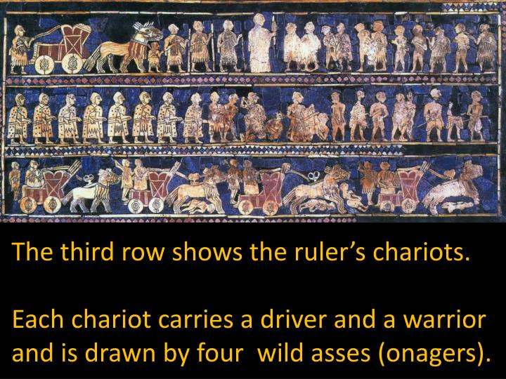 The third row shows the ruler's chariots.