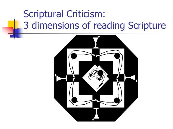 Scriptural Criticism: