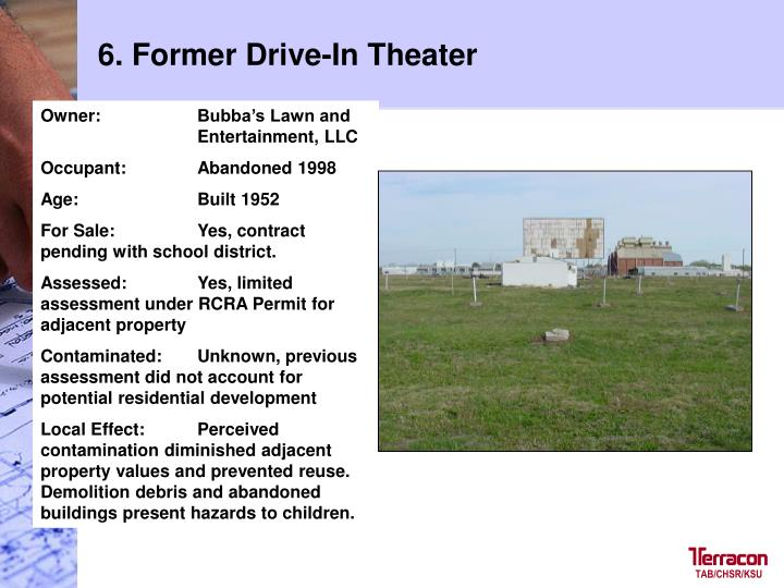 6. Former Drive-In Theater