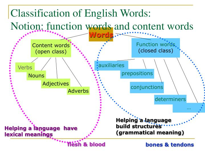 Classification of English Words: