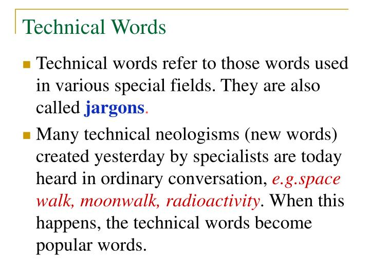 Technical Words