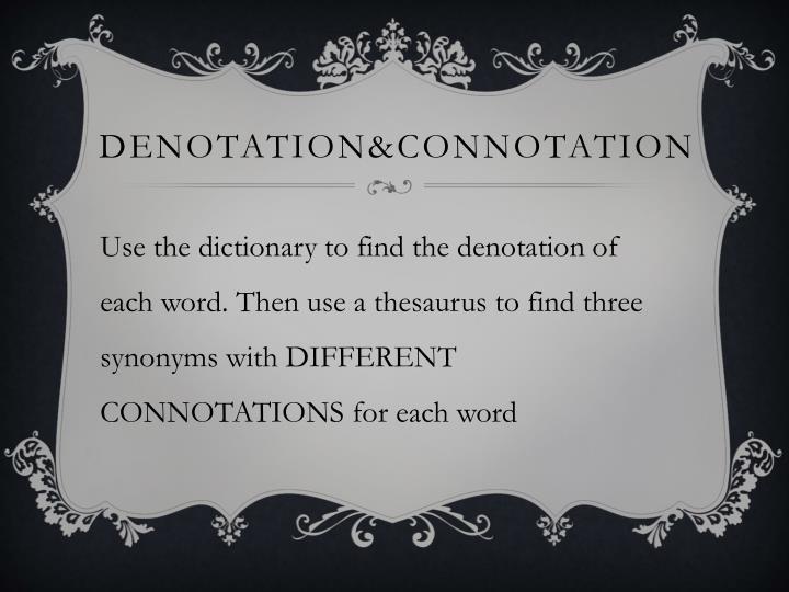 Denotation&COnnotation