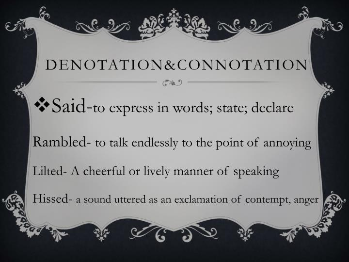 Denotation&COnnotation