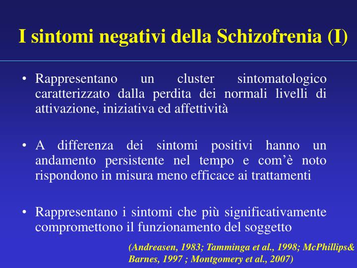 I sintomi negativi della Schizofrenia (I)