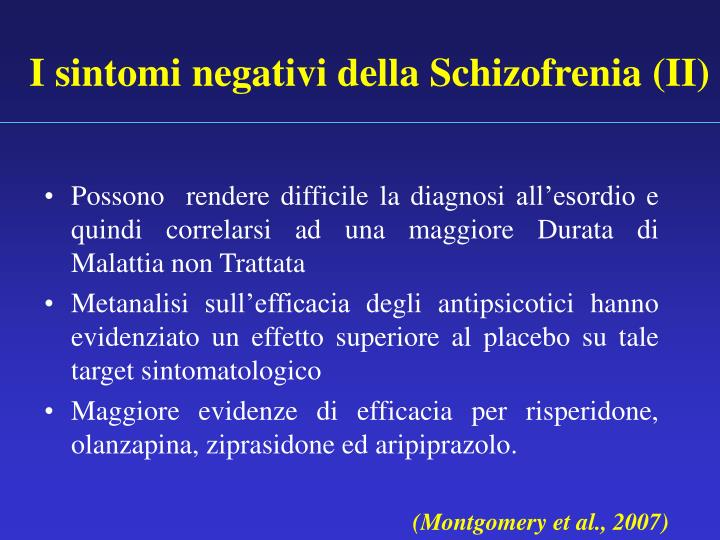 I sintomi negativi della Schizofrenia (II)