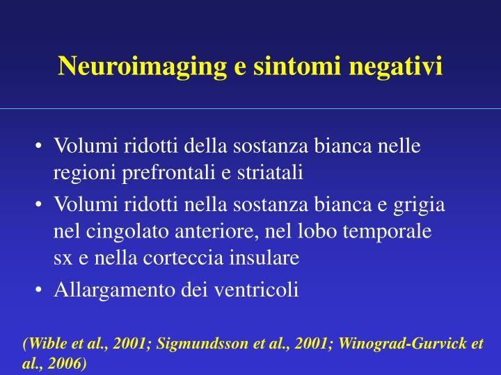 Neuroimaging e sintomi negativi