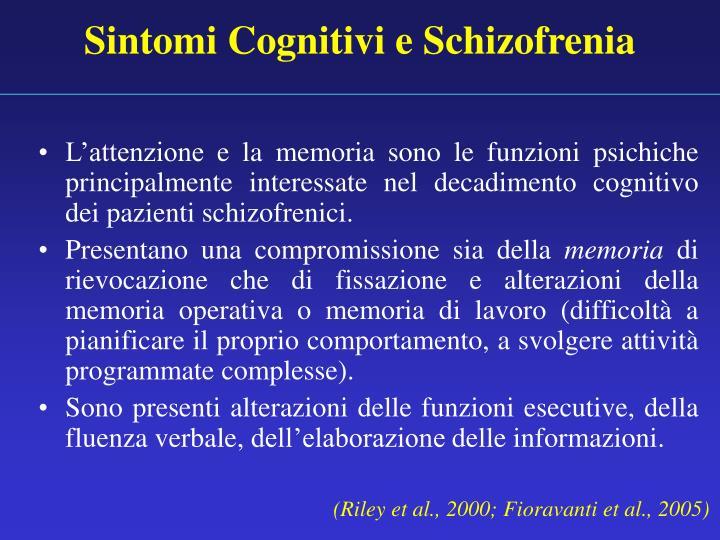 Sintomi Cognitivi e Schizofrenia