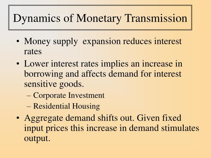 Dynamics of Monetary Transmission