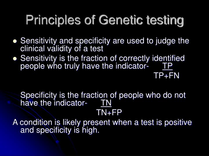 Principles of Genetic testing