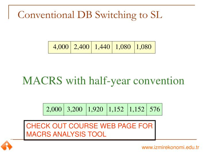 Conventional DB Switching to SL