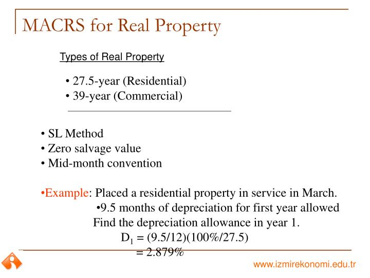 MACRS for Real Property