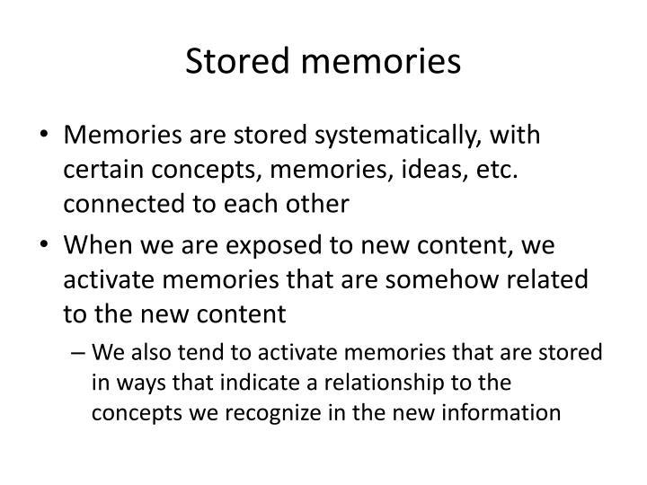 Stored memories