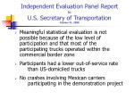 independent evaluation panel report to u s secretary of transportation october 31 2008