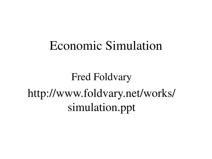 Economic simulation