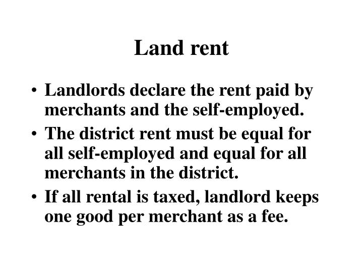 Land rent