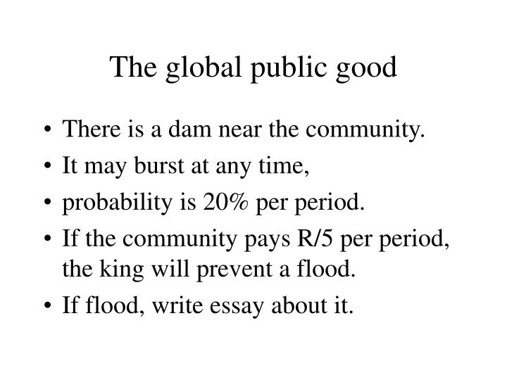 The global public good