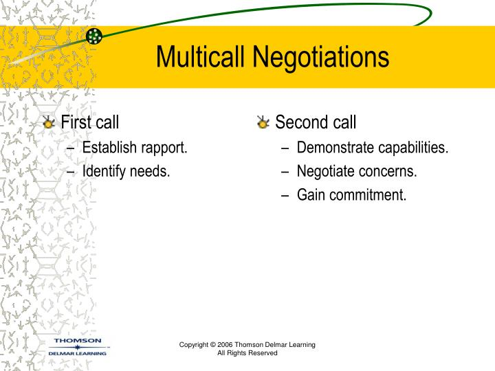 Multicall negotiations