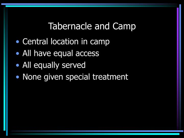 Tabernacle and Camp
