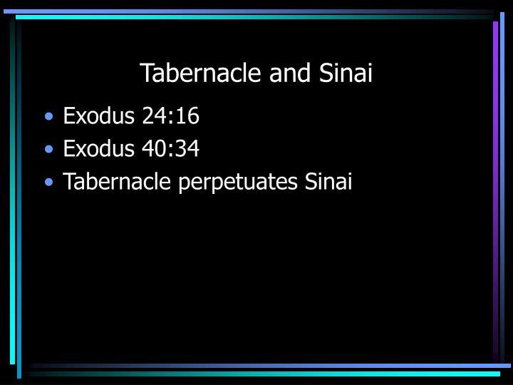 Tabernacle and Sinai