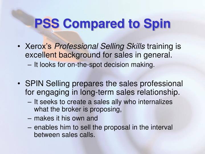 PSS Compared to Spin