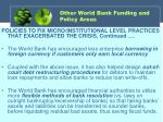 other world bank funding and policy areas1