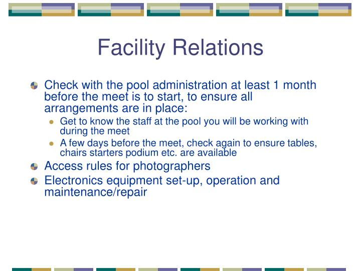 Facility Relations