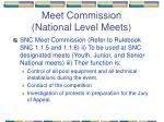 meet commission national level meets