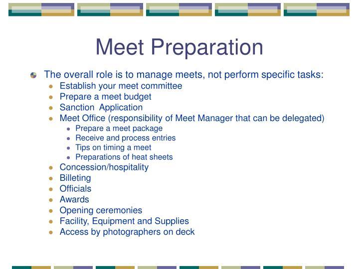 Meet Preparation