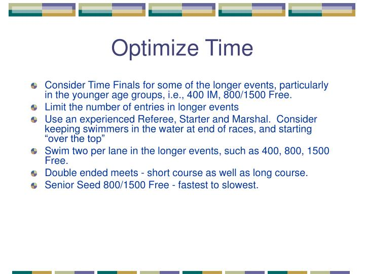 Optimize Time