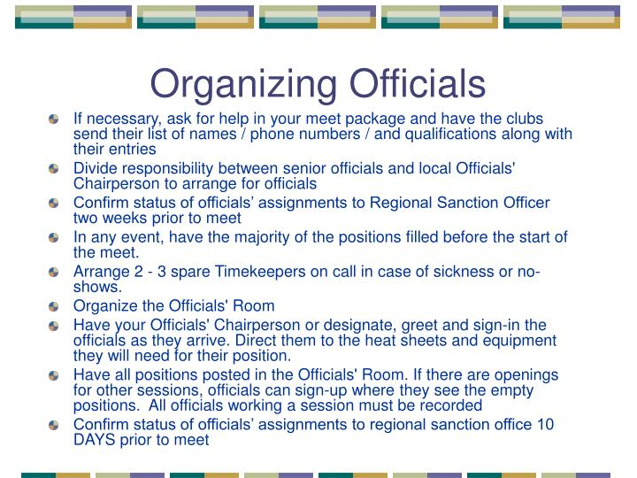 Organizing Officials