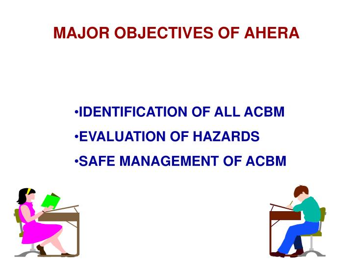 MAJOR OBJECTIVES OF AHERA
