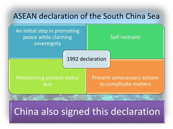 ASEAN declaration of the South China Sea