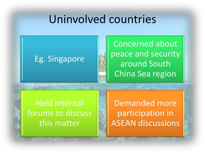 Uninvolved countries