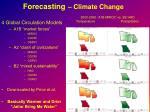 forecasting climate change