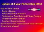 update of 3 year partnership effort