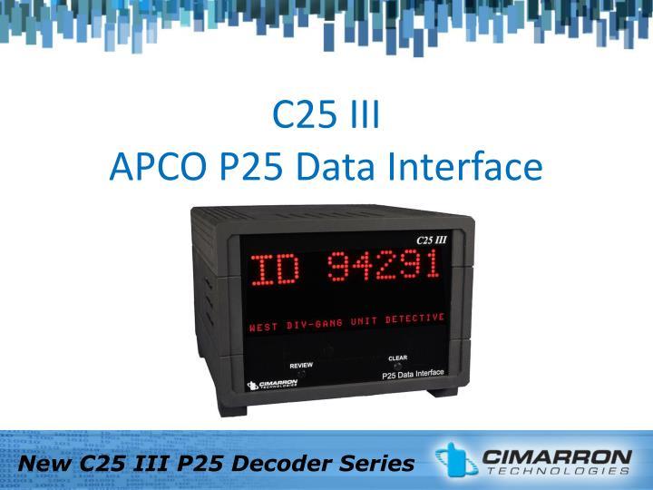 C25 III