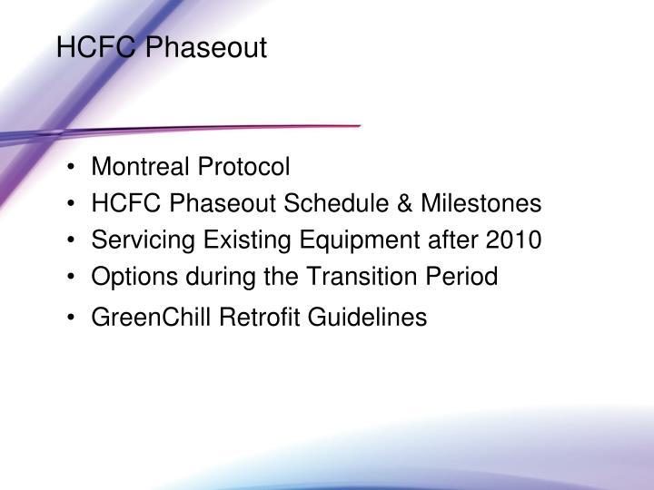 HCFC Phaseout