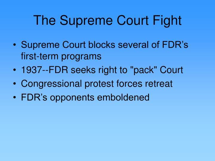 The Supreme Court Fight
