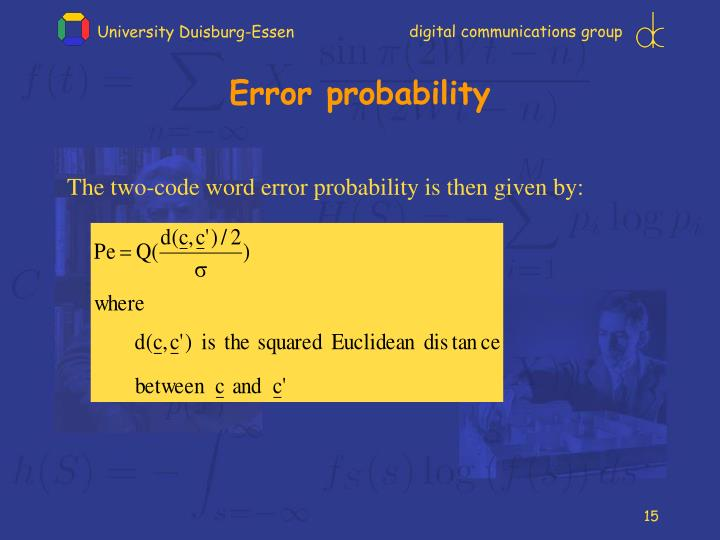 Error probability