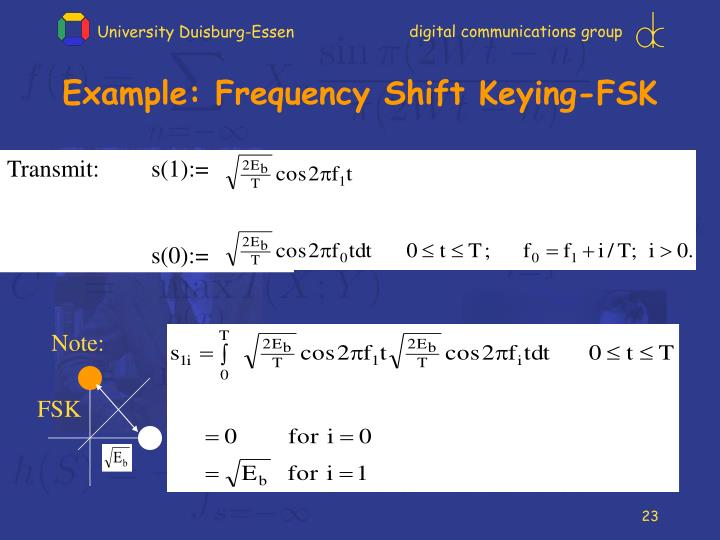Example: Frequency Shift Keying-FSK