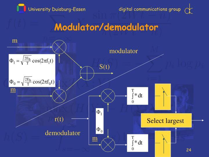 Modulator/demodulator